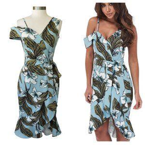 LAVISH ALICE Floral One-Shoulder Ruffle Dress